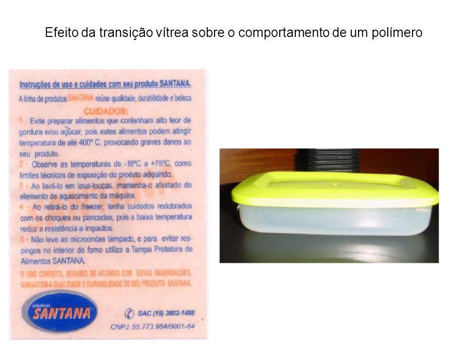 Efeito da transição vítrea sobre o comportamento de um polímero