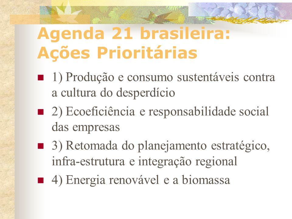 Agenda 21 brasileira a estrutura do sistema político nacional apresente maior grau de abertura para as políticas de redução das desigualdades e de eli