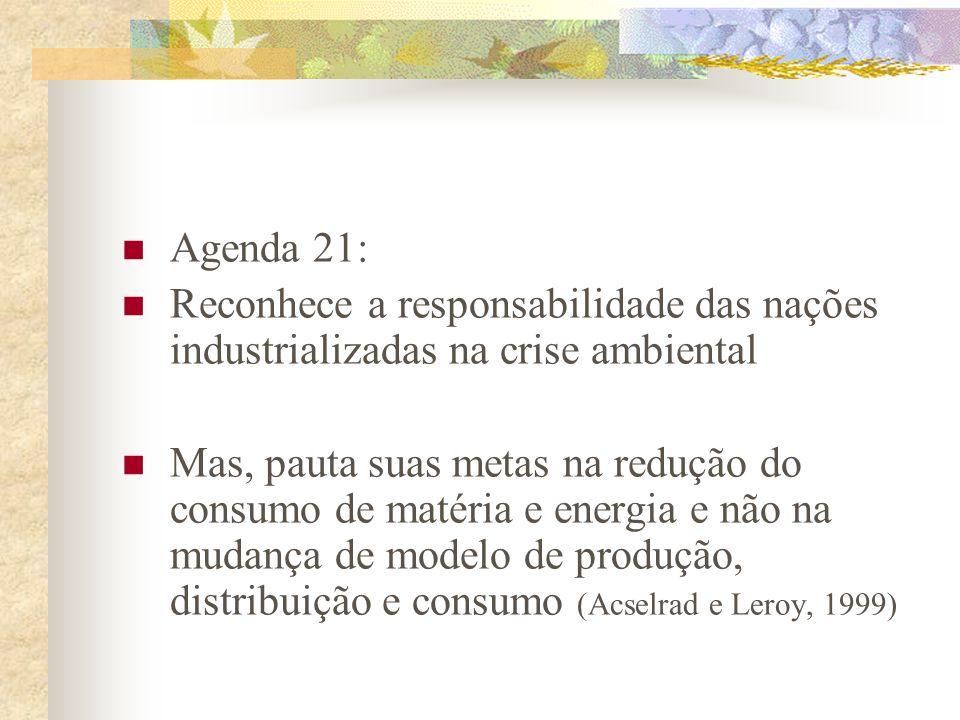 Agenda 21 brasileira: Ações Prioritárias 17) Descentralização e o pacto federativo: parcerias, consórcios e o poder local 18) Modernização do Estado: