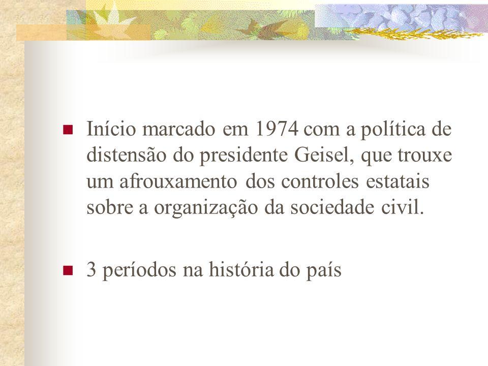 Fases do Ecologismo no Brasil Quatro décadas de crescimento econômico acelerado no Brasil trouxeram uma profunda degradação ambiental, talvez a mais i