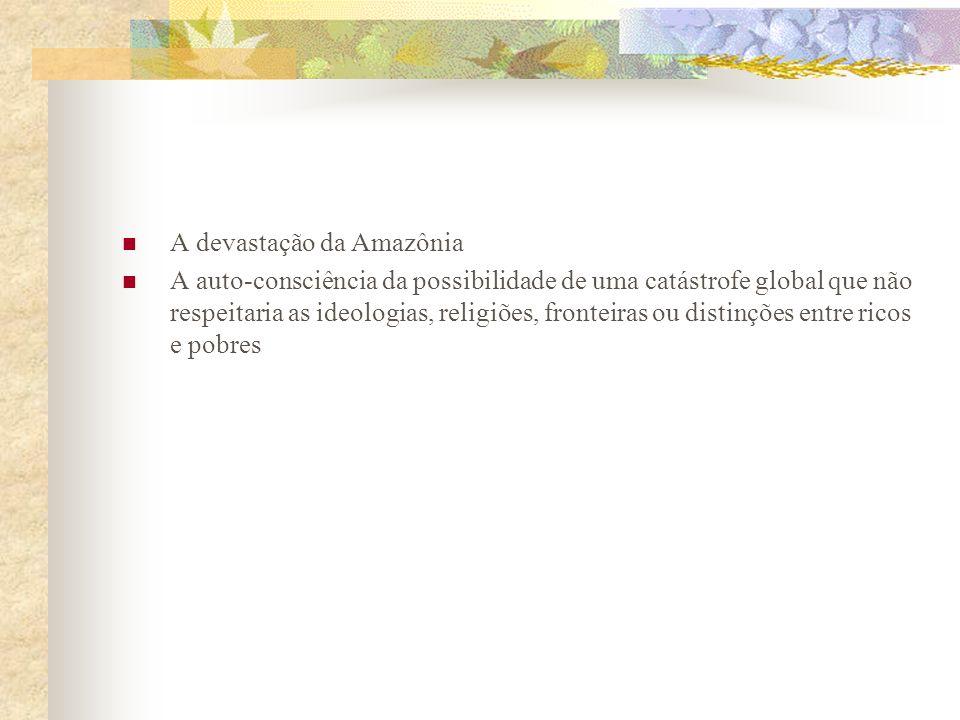 Década de 90 Ambientalismo rico, complexo, multifacetado e plurilocalizado Opinião pública brasileira vem passando por um processo de sensibilização e