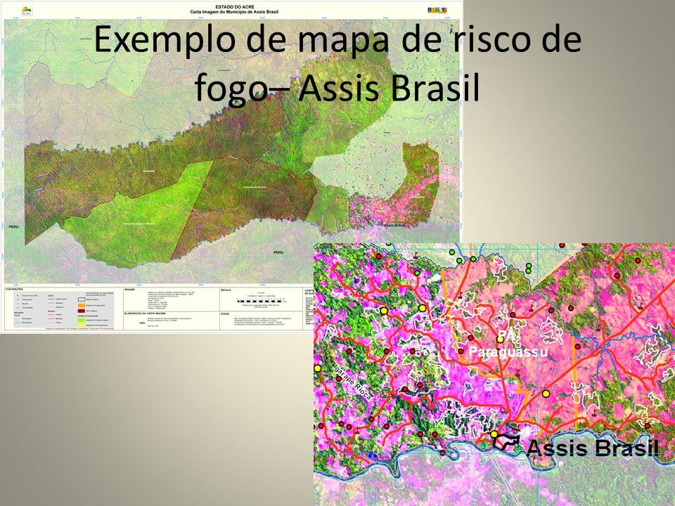 Exemplo de mapa de risco de fogo– Assis Brasil