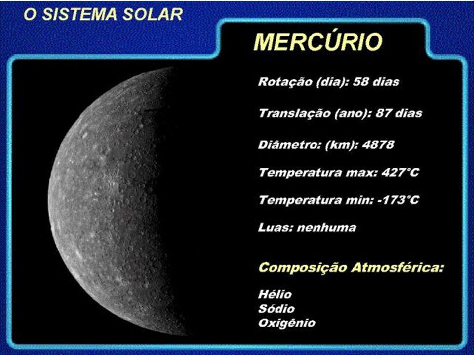Observações importantes Fotos tiradas por sondas espaciais mostram que ele é muito parecido com a Lua, por causa do grande número de crateras, mas sua composição química, tanto da superfície quanto do seu interior, é parecida com a da Terra.