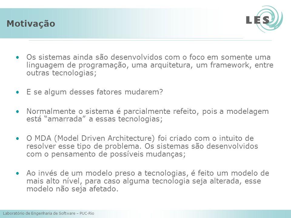 Laboratório de Engenharia de Software – PUC-Rio Motivação Os sistemas ainda são desenvolvidos com o foco em somente uma linguagem de programação, uma