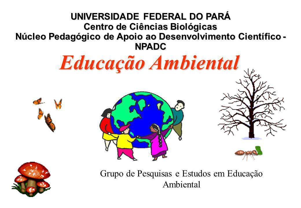 Grupo de Pesquisas e Estudos em Educação Ambiental UNIVERSIDADE FEDERAL DO PARÁ Centro de Ciências Biológicas Núcleo Pedagógico de Apoio ao Desenvolvi