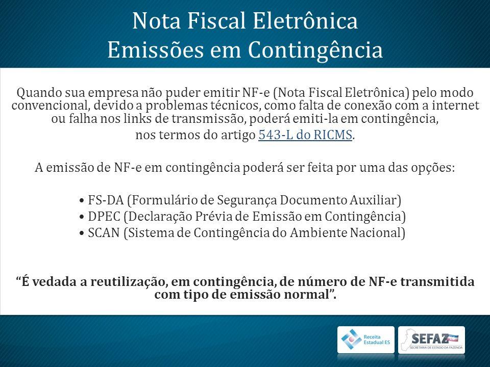 Para transmissão da NF-e DPEC à Receita Federal do Brasil e obtenção do protocolo, selecione a NF-e em DPECs Gerados.