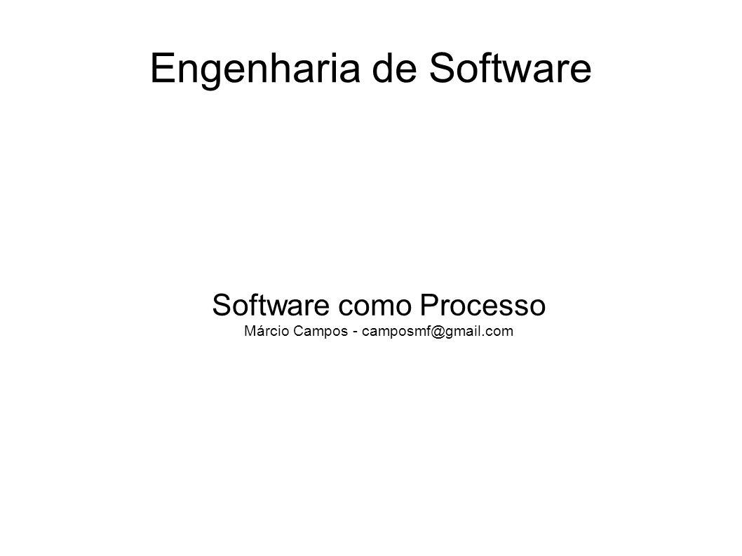 Engenharia de Software Software como Processo Márcio Campos - camposmf@gmail.com