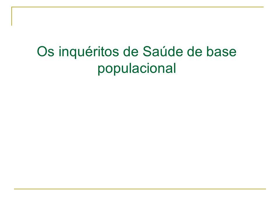 Os inquéritos de Saúde de base populacional