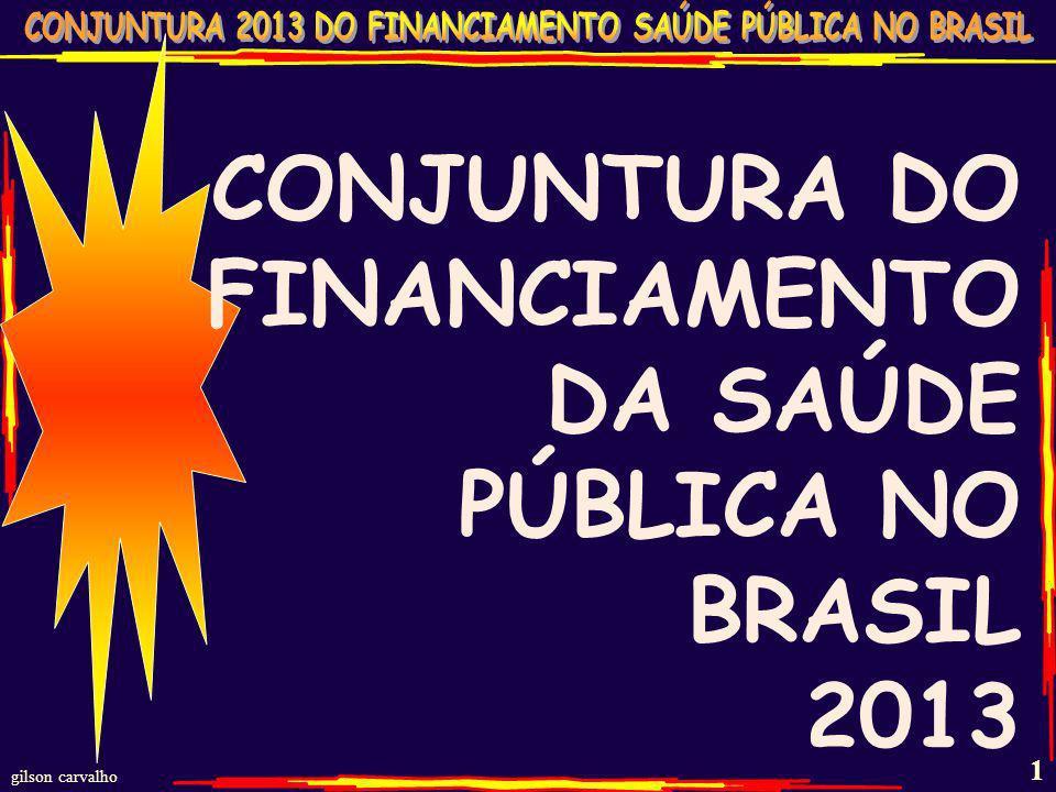 gilson carvalho 1 CONJUNTURA DO FINANCIAMENTO DA SAÚDE PÚBLICA NO BRASIL 2013