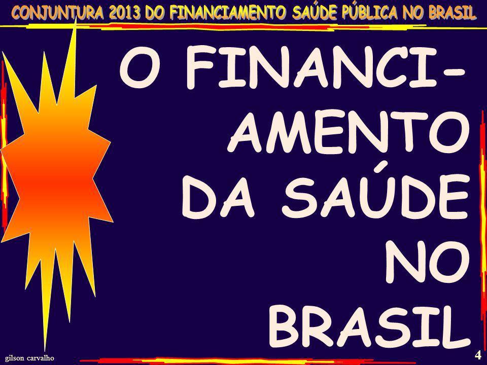 gilson carvalho 4 O FINANCI- AMENTO DA SAÚDE NO BRASIL