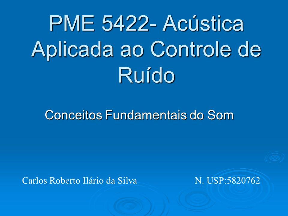 PME 5422- Acústica Aplicada ao Controle de Ruído Conceitos Fundamentais do Som Carlos Roberto Ilário da SilvaN. USP:5820762
