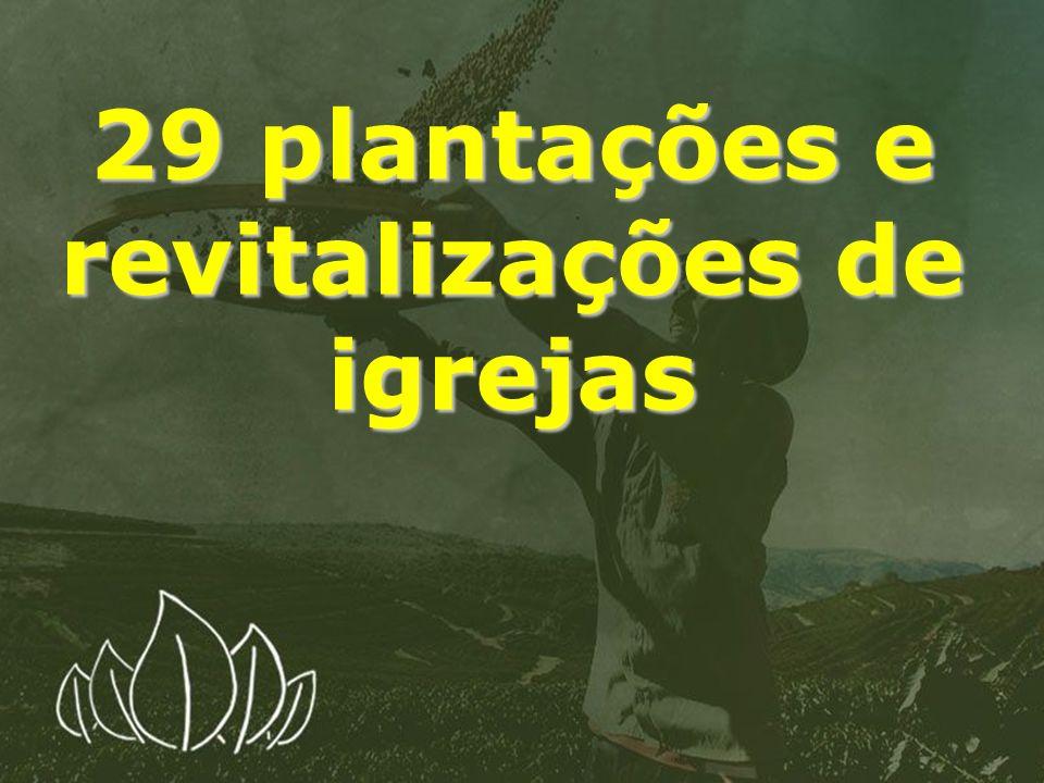 29 plantações e revitalizações de igrejas