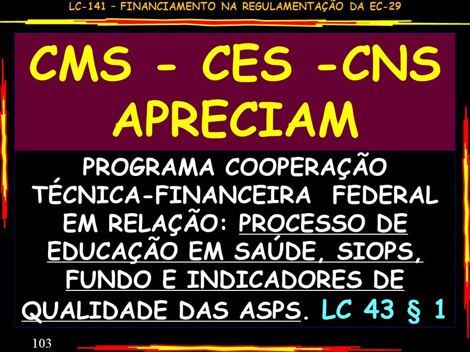 LC-141 – FINANCIAMENTO NA REGULAMENTAÇÃO DA EC-29 102 REFLEXÕES E PROVIDÊNCIAS QUEM DEFINE OS TERMOS DOMICILIAR E PEQUENAS COMUNIDADES? QUEM INFORMA C