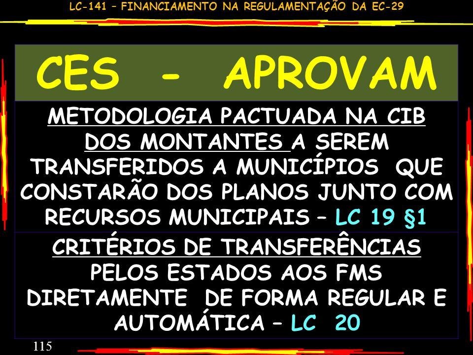 LC-141 – FINANCIAMENTO NA REGULAMENTAÇÃO DA EC-29 114 REFLEXÕES E PROVIDÊNCIAS COMO SERÁ DADA A INFORMAÇÃO DE 5560 MUNICÍPIOS? SOFRERÁ ALGUMA AVALIAÇÃ