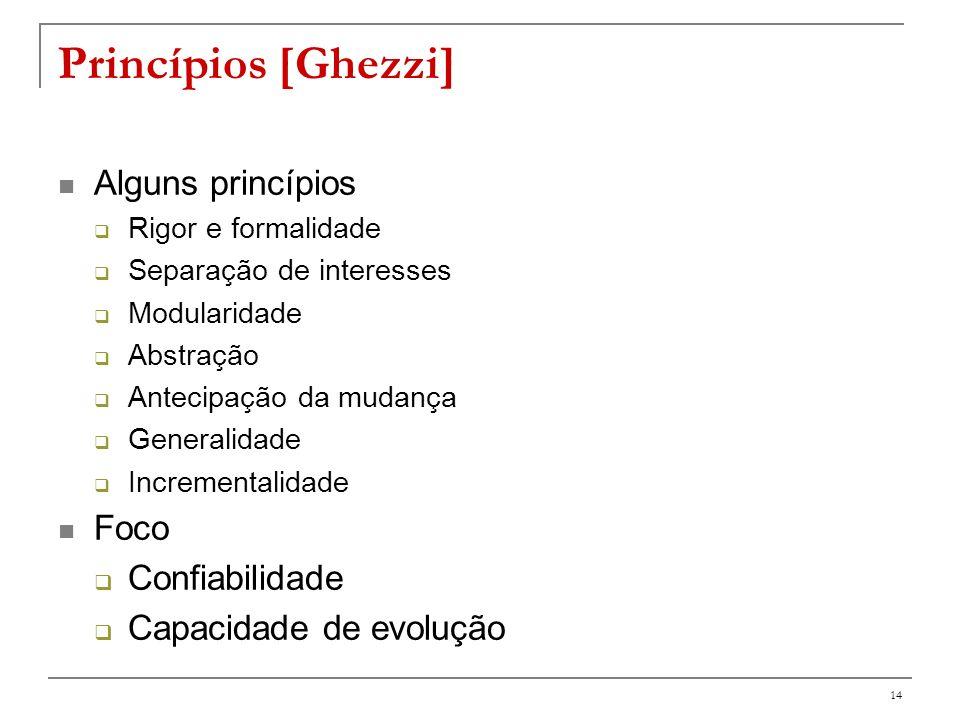 Alguns princípios Visão de Ghezzi