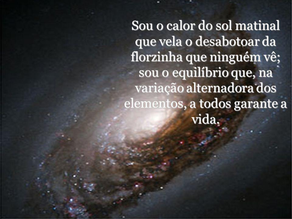 Tudo é conexo no universo; causas físicas e efeitos morais, causas morais e efeitos físicos.