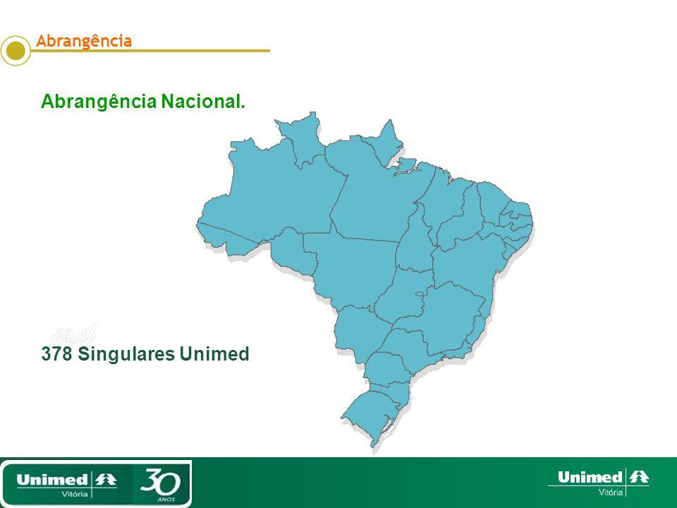 Abrangência Nacional. 378 Singulares Unimed Abrangência