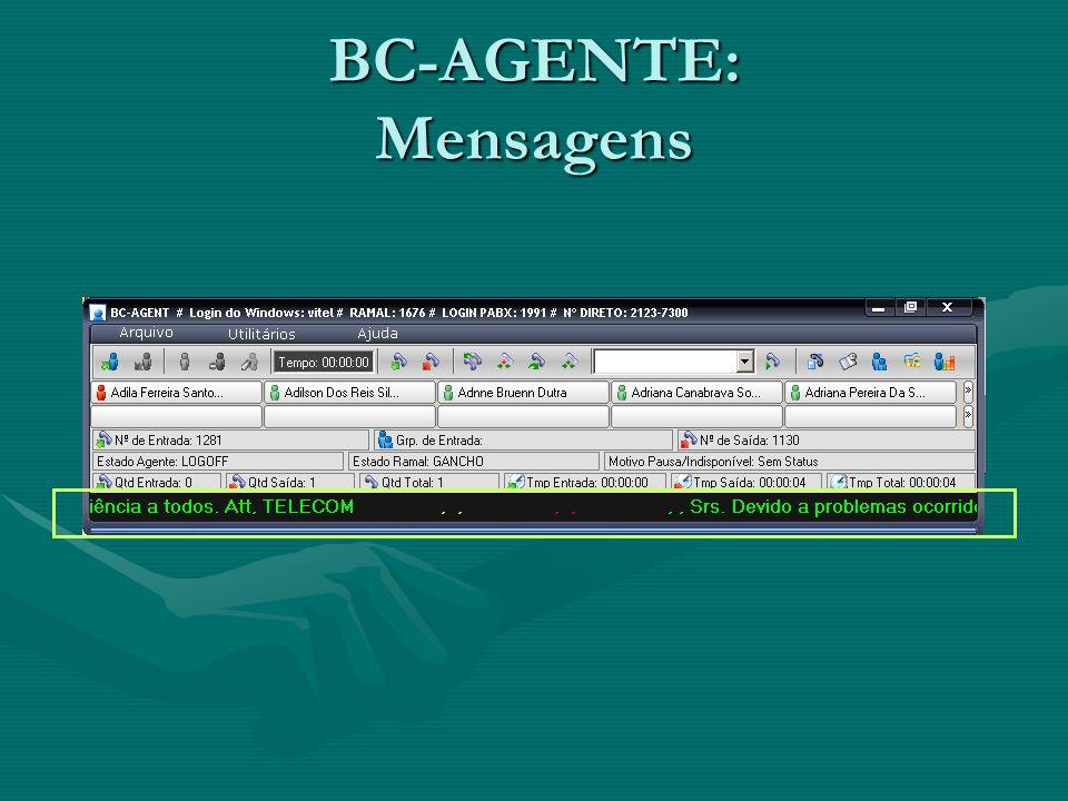 BC-AGENTE: Mensagens