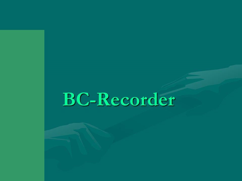 BC-Recorder BC-Recorder