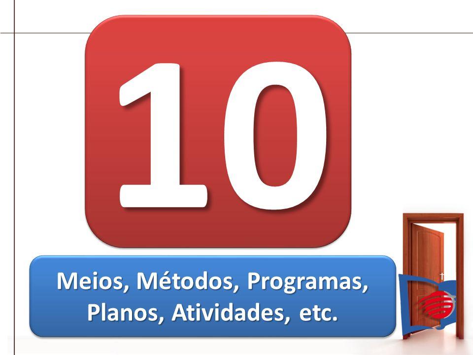 1010 Meios, Métodos, Programas, Planos, Atividades, etc.