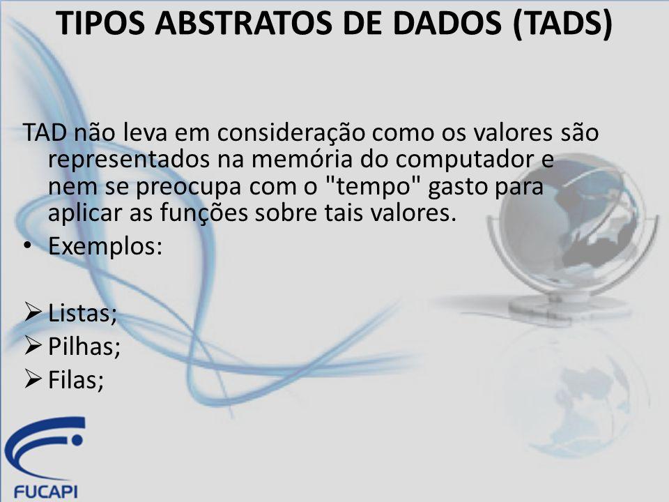 AS ESTRUTURAS DE DADOS (EDS) É um método particular de implementar um TAD.