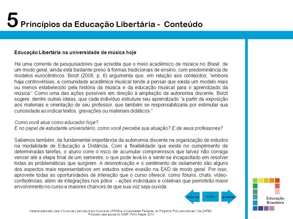 Material elaborado para o Curso de Licenciatura em Música da UFRGS e Universidades Parceiras, do Programa Pró-Licenciaturas II da CAPES. Produzido pel
