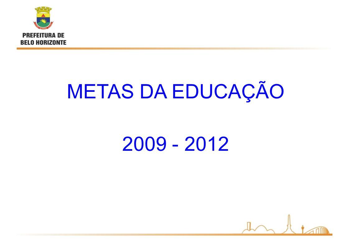 METAS DA EDUCAÇÃO 2009 - 2012