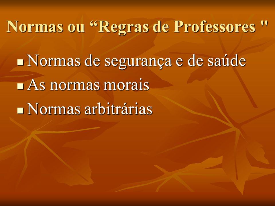 Normas ou Regras de Professores