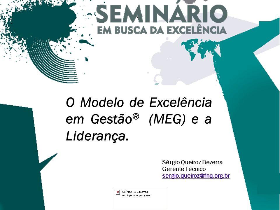 1 Sérgio Queiroz Bezerra Gerente Técnico sergio.queiroz@fnq.org.br O Modelo de Excelência em Gestão ® (MEG) e a Liderança.