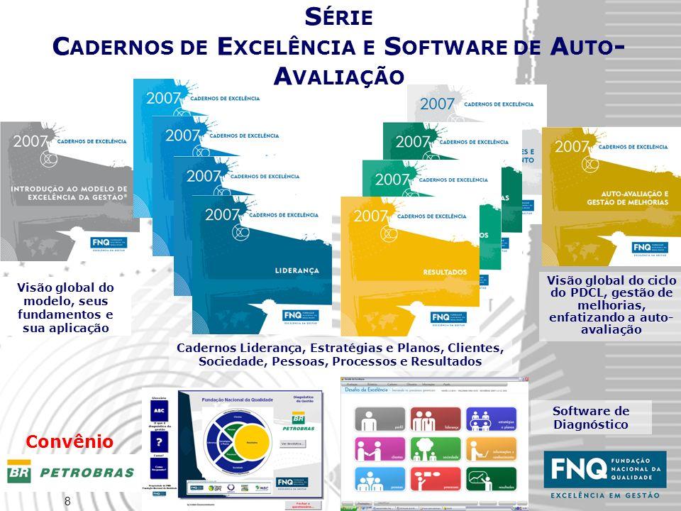 8 Software de Diagnóstico Visão global do modelo, seus fundamentos e sua aplicação S ÉRIE C ADERNOS DE E XCELÊNCIA E S OFTWARE DE A UTO - A VALIAÇÃO C
