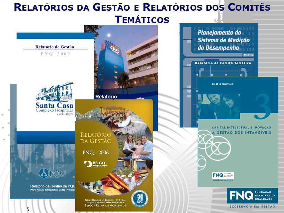 10 Rede Brasileira da Qualidade, Produtividade & Competitividade -15 ANOS DE EXCELÊNCIA EM GESTÃO- Um Brasil melhor se faz com qualidade de vida para todos