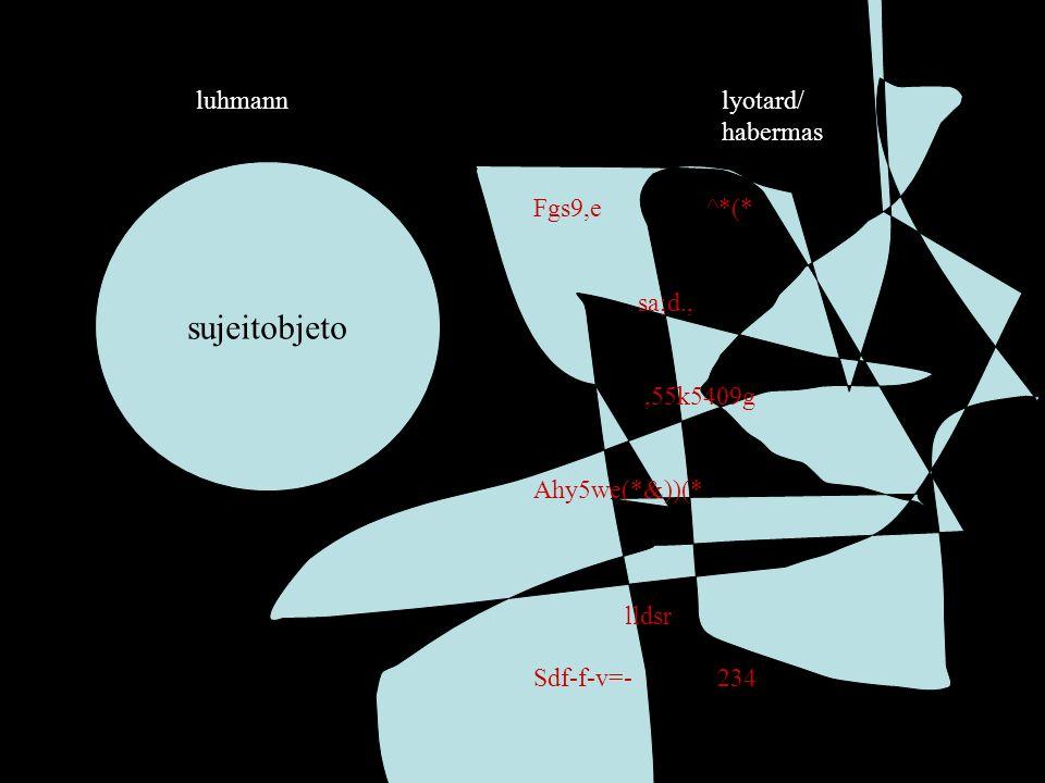 sujeitobjeto lyotard/ habermas luhmann Fgs9,e ^*(* sa;d.,,55k5409g Ahy5we(*&))(* lldsr Sdf-f-v=- 234
