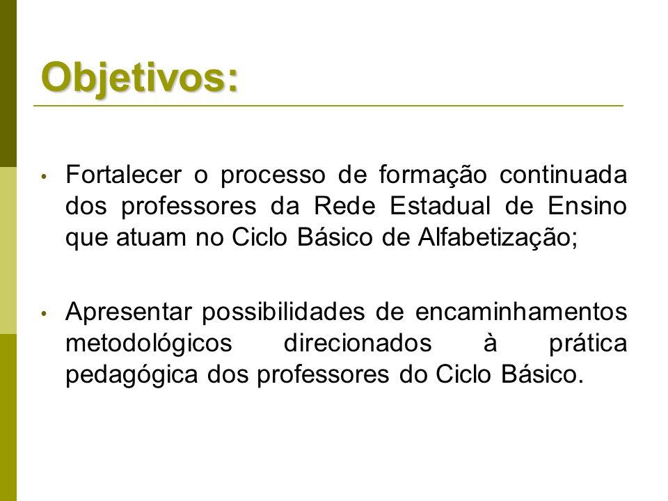 Obs: as sugestões de encaminhamentos foram construídas a partir das contribuições de ASINELLI, 2010 e HUBES; FERREIRA, sd.
