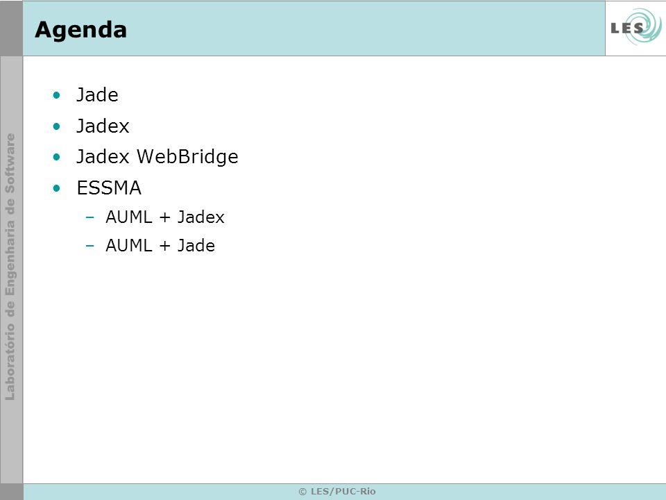 Jade Java Agent Development Framework http://jade.tilab.com/ Versão atual: 3.5 (25 Junho 2007)