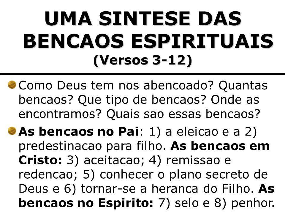 6) O PAPEL DO ESPIRITO E A BENCAO DE SER SELADO (Verso 13) Espirito da promessa.