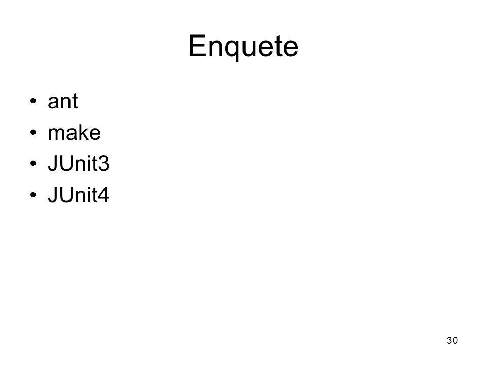 30 Enquete ant make JUnit3 JUnit4
