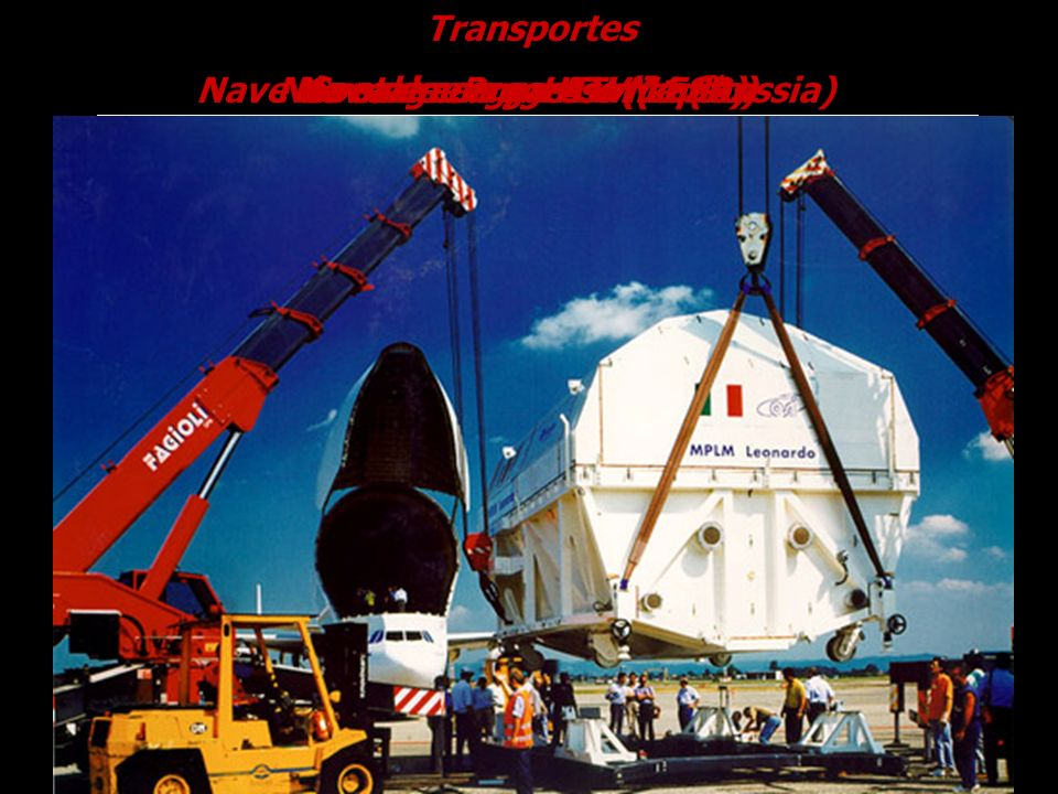 Nave de carga ATV ( ESA) Transportes Containers pressurizadosNave de carga Progress M1 (Russia)Nave de carga HTV (Japão)