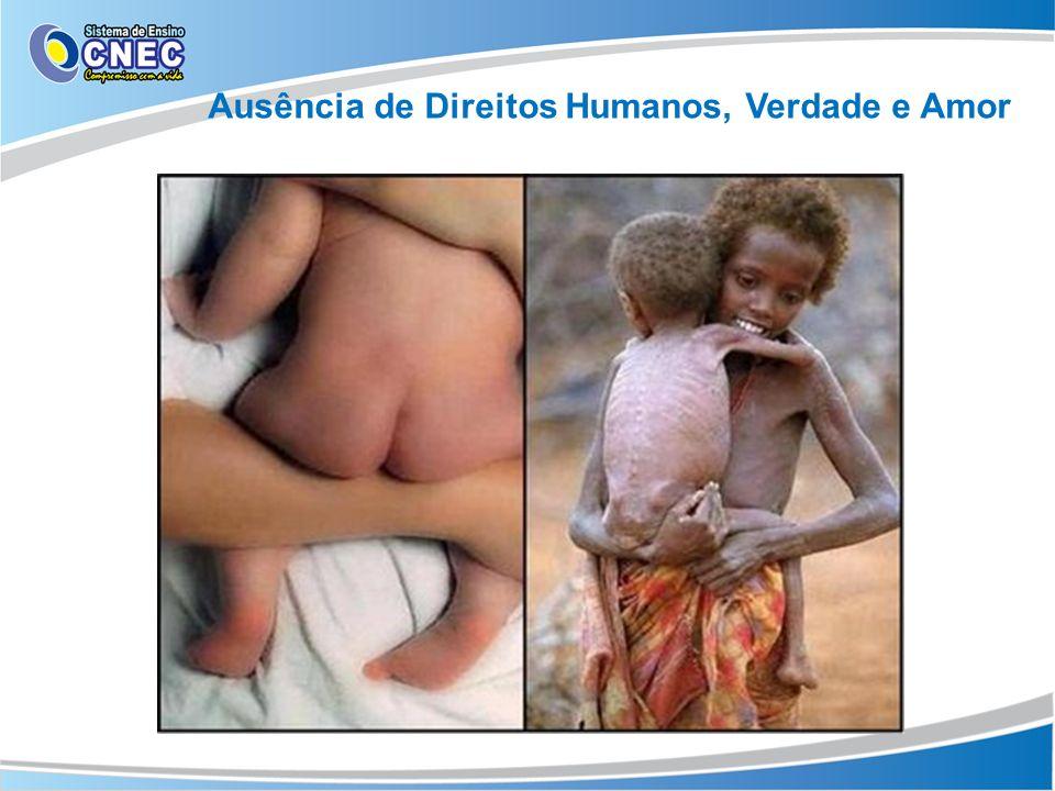 Direitos Humanos, Verdade e AmorAusência de Direitos Humanos, Verdade e Amor