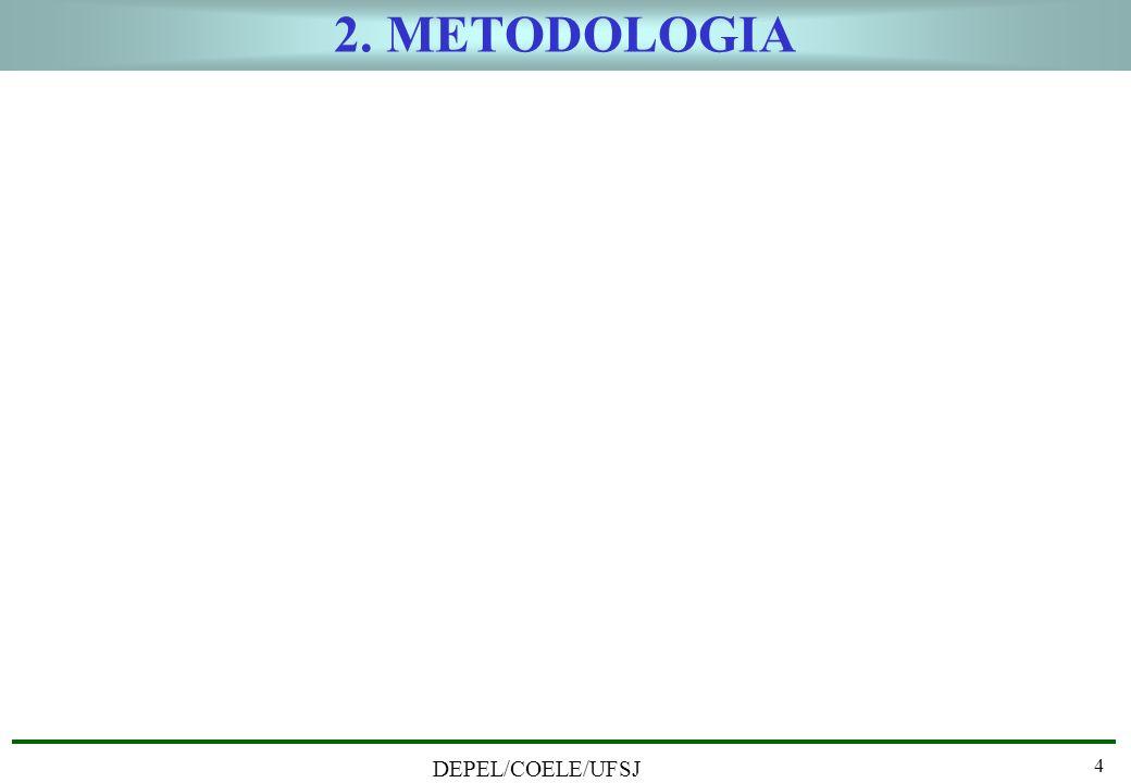 2. METODOLOGIA DEPEL/COELE/UFSJ 4