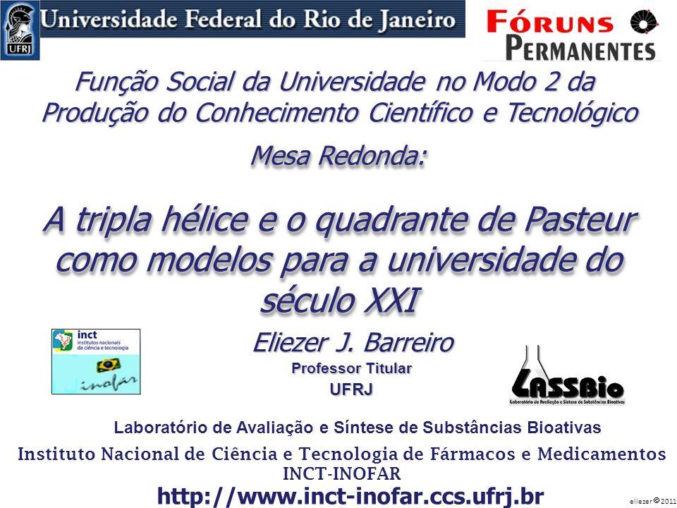 Mesa Redonda: A tripla hélice e o quadrante de Pasteur como modelos para a universidade do século XXI Mesa Redonda: A tripla hélice e o quadrante de P