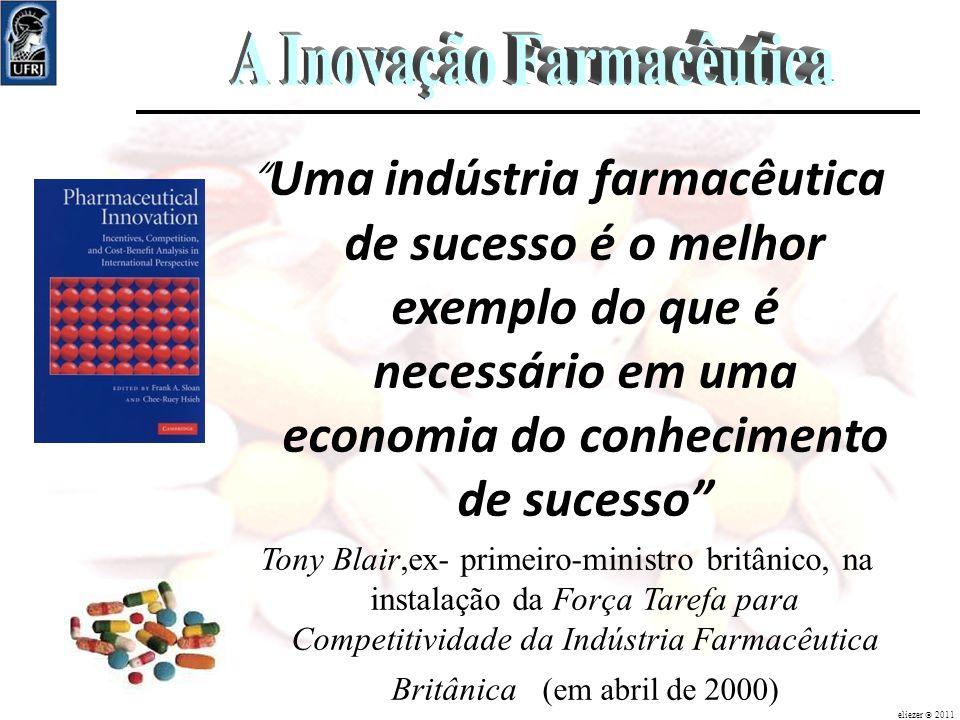 Uma indústria farmacêutica de sucesso é o melhor exemplo do que é necessário em uma economia do conhecimento de sucesso Tony Blair,ex- primeiro-minist