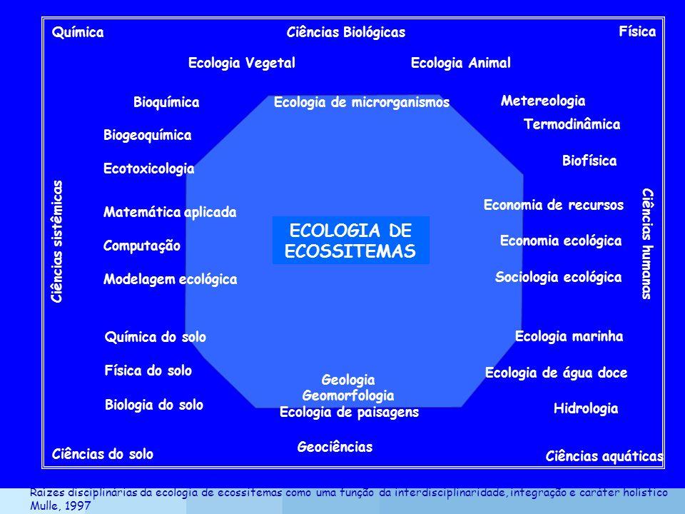 Química Física Ciências do solo Geociências Ciências aquáticas ECOLOGIA DE ECOSSITEMAS Ciências Biológicas Ciências sistêmicas Ciências humanas Ecolog