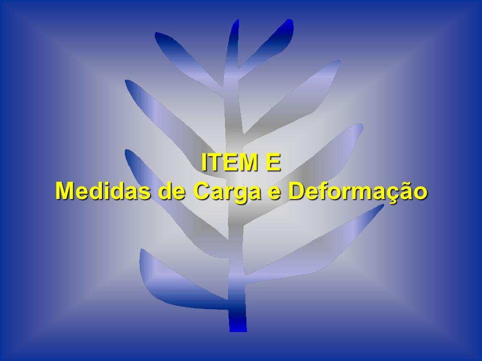 ITEM E Medidas de Carga e Deformação