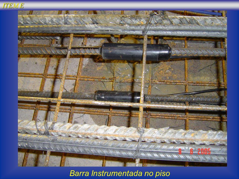 ITEM E Barra Instrumentada no piso