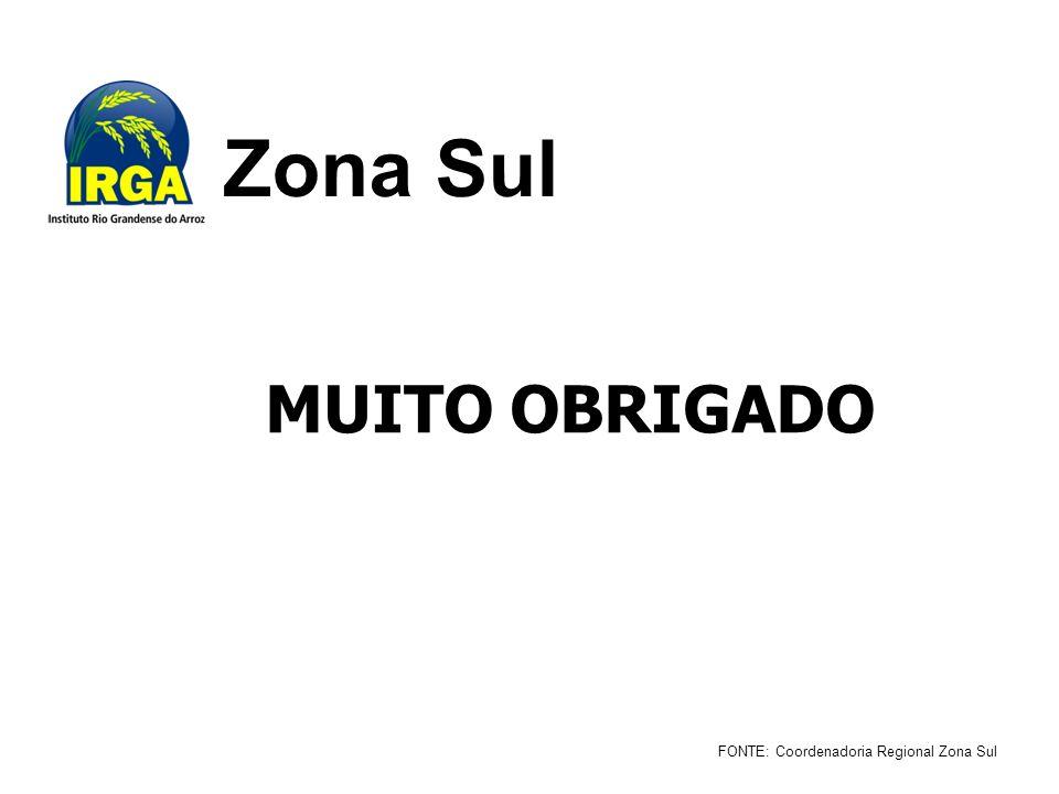 Zona Sul FONTE: Coordenadoria Regional Zona Sul MUITO OBRIGADO
