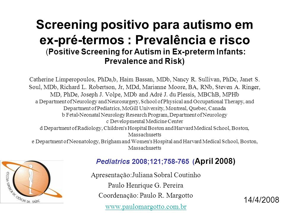 Courchesne E.Brainstem, cerebellar and limbic neuroanatomical abnormalities in autism.