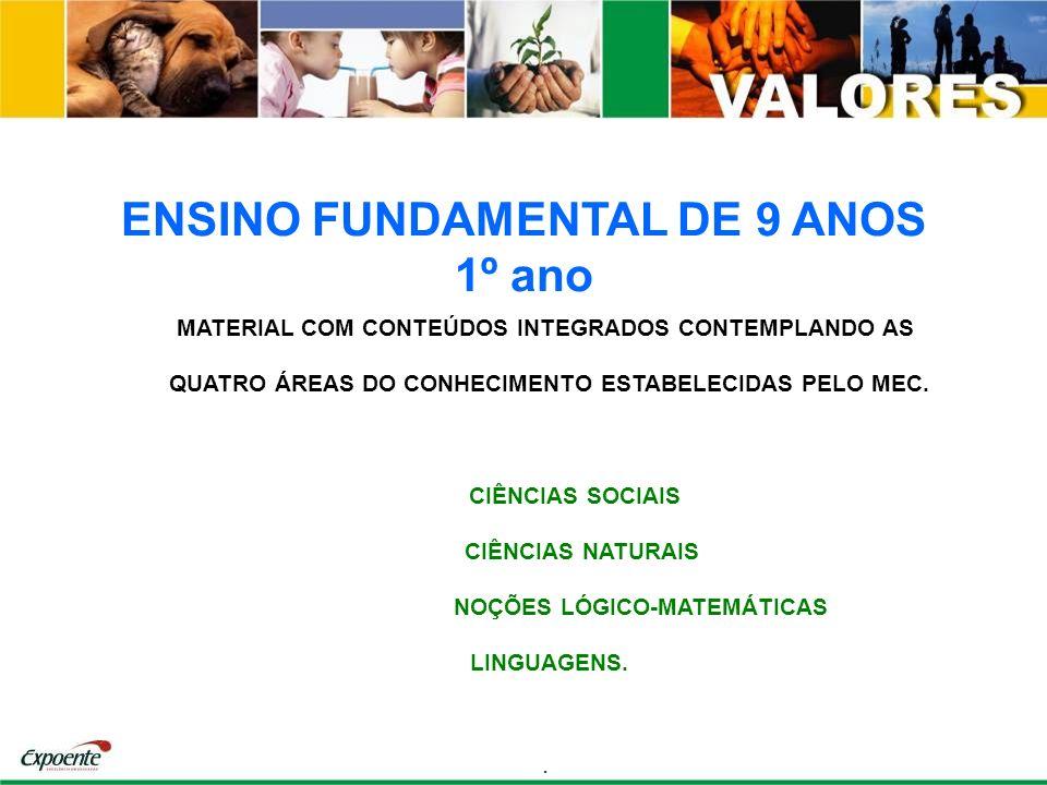 ENSINO FUNDAMENTAL DE 9 ANOS 1º ano MATERIAL COM CONTEÚDOS INTEGRADOS CONTEMPLANDO AS QUATRO ÁREAS DO CONHECIMENTO ESTABELECIDAS PELO MEC. CIÊNCIAS SO