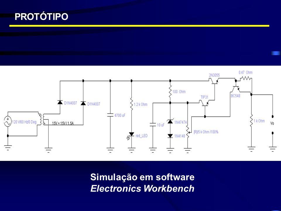 Simulação em software Electronics Workbench