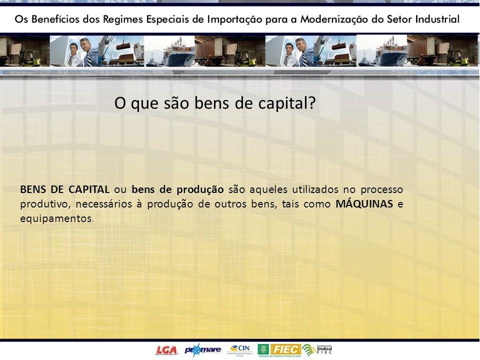 O que são bens de capital? BENS DE CAPITAL ou bens de produção são aqueles utilizados no processo produtivo, necessários à produção de outros bens, ta