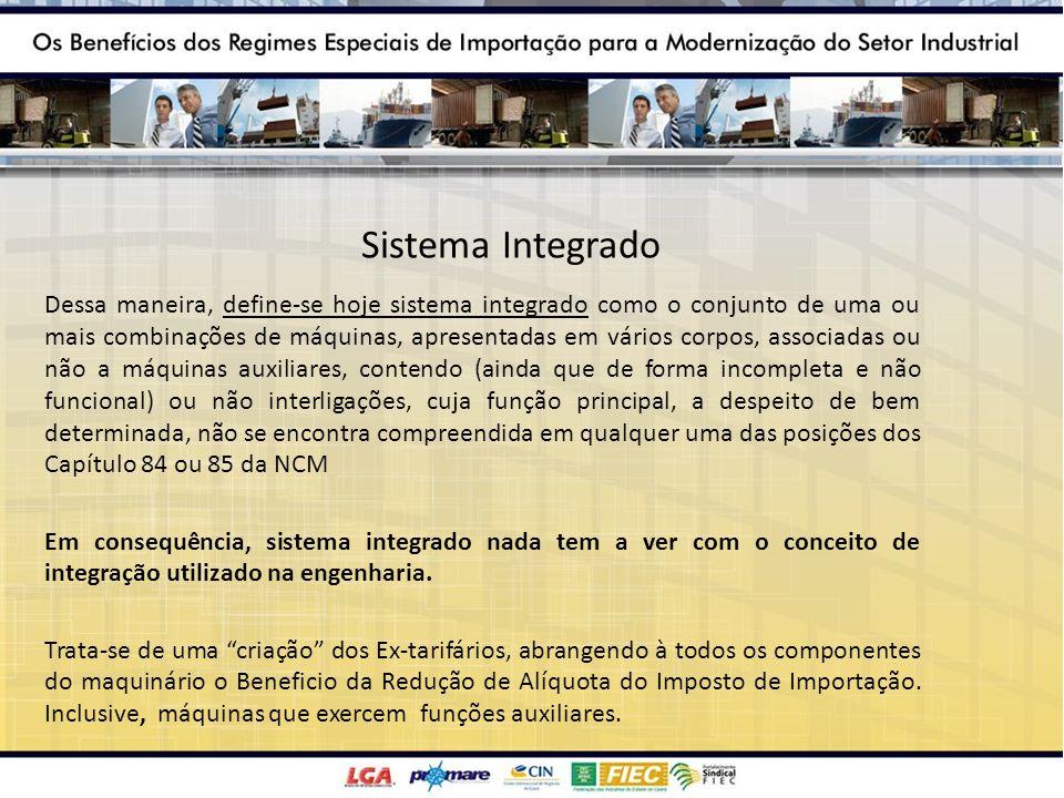 Sistema Integrado Dessa maneira, define-se hoje sistema integrado como o conjunto de uma ou mais combinações de máquinas, apresentadas em vários corpo